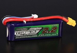 Turnigy nano-tech 2200mah 3S 25-50C battery